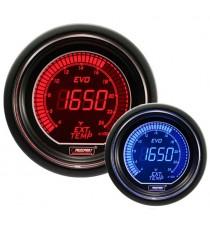 Prosport serie EVO temperaturagas di scarico elettronico BMC - Diametro 52mm colore rosso e blu