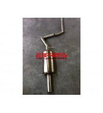 Impianto di scarico completo inox sportivo per SEAT Ibiza Tubo 2001>2002 (BMC - Diametro 63mm)