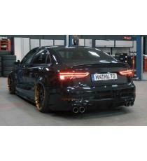 Capristo - Impianto cat back per Audi RS3 8V con terminali ovali in acciaio