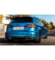 Capristo - Impianto Cat back per Audi RS3 8V con terminali TONDI in fibra di carbonio