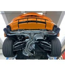 Capristo - Impianto cat back per Lamborghini Urus con terminali in alluminio rivestiti di carbonio