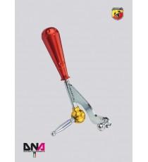 DNA - Kit leva cambio stage 1 con pomello 695 style in alluminio anodizzato rosso per ABARTH 500
