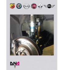 "DNA - Kit tiranti ""Pro Street"" barra antirollio anteriore per FIAT PUNTO PANDA E 500"