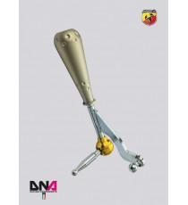 DNA - Kit leva cambio stage 1 con pomello 695 style in alluminio anodizzato titanio per ABARTH 500