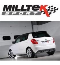 Milltek Sport - - Cat-back (Centrale + Terminale) silenziato per SKODA Fabia vRS con motore 1.4L TSI