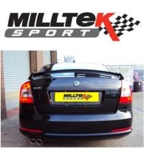 Milltek Sport - - Cat-back (Centrale + Terminale) non silenziato per SKODA Octavia vRS con motore 2.0L TSI