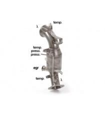 Ragazzon - Catalizzatore Gr.N e tubo sostituzione filtro antiparticolato Gr. N inox per Alfa Romeo Stelvio 2.2 Turbo Diesel Q4 (132kW) (154kW)