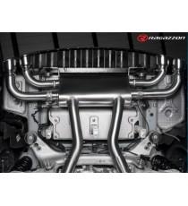 Ragazzon - Posteriore inox sdoppiato con terminali rotondi 4 / 102 mm Sport Line con valvole integrate per Alfa Romeo Giulia Quadrifoglio