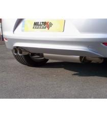 Milltek Sport - - Cat-back (Centrale + Terminale) non silenziato per VW Scirocco con motore 2.0L TSI