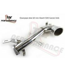 TBF - Downpipe diametro 70mm per FIAT 500 Abarth e Grande Punto con turbina Garrett 1446