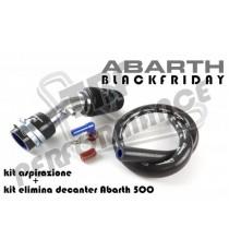 TBF - Kit aspirazione diretta e eliminazione decanter vapori per FIAT 500 Abarth con turbina Garrett 1446 o turbina Mitsubishi TD04