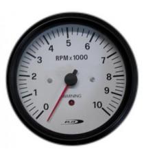 Contagiri 100mm Analogico 10000RPM Segnale allarme fuorigiri WHITE LINE