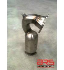 Downpipe inox con catalizzatore 200 celle BRAIN per ABARTH 595, 595 Turismo, 595 Competizione (Diametro 60mm)