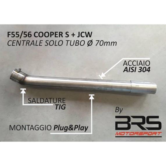 Centrale sportivo libero (solo tubo) per MINI Cooper S e JCW F55 e F56