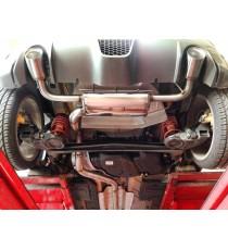 BRS Motorsport - Terminale dx-sx SILENZIATO STRADALE con finali 2x100mm per FIAT 500 Abarth con motore 1.4L TJet qualsiasi modello (>08/08)